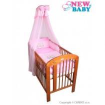 NEW BABY 7-dílné ložní povlečení Bunnies 100/135 růžové