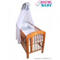 NEW BABY 7-dílné ložní povlečení Bunnies 100/135 šedé