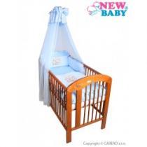 NEW BABY 7-dílné ložní povlečení Bunnies 90/120 modré