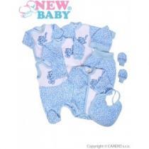 NEW BABY 9-dílná souprava do porodnice Leopardík modrá