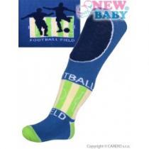 NEW BABY Bavlněné punčocháčky modré football
