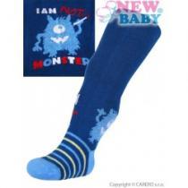 NEW BABY Bavlněné punčocháčky modré s příšerou
