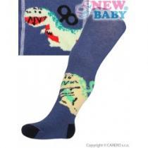 NEW BABY Bavlněné punčocháčky tmavě modré dino