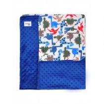 KOALA Dětská oboustranná deka z Minky Zoo tmavě modrá
