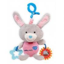BABY MIX Dětská plyšová hračka Králíček šedý