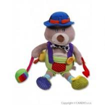 BABY MIX Dětská plyšová hračka s chrastítkem a pískátkem méďa