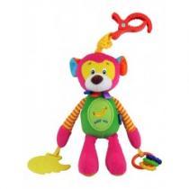 BABY MIX Dětská plyšová hračka s chrastítkem opička