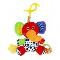 BABY MIX Dětská plyšová hračka s vibrací slon