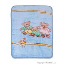 BABY MIX Dětská španělská deka s obrázkem modrá