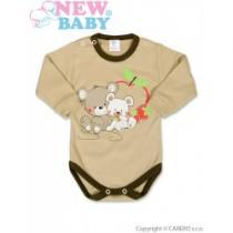 NEW BABY Dětské body s dlouhým rukávem Myšky s jahůdkou