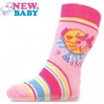 NEW BABY Dětské ponožky s ABS růžové gold fish
