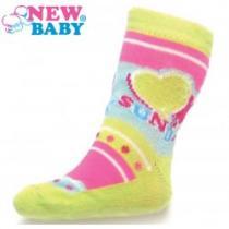 NEW BABY Dětské ponožky s ABS žluté sunday