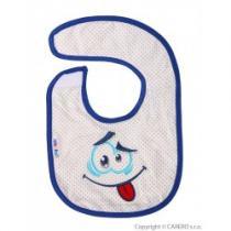 AKUKU Dětský bryndák modrý s úsměvem