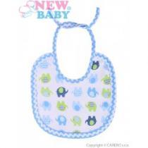 NEW BABY Dětský bryndák Sloník bílo-modrý