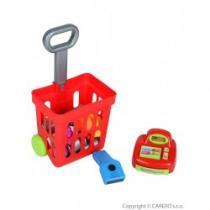 BAYO Dětský nákupní košík s příslušenstvím Bayo 24 ks