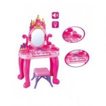 BAYO Dětský toaletní stolek s pianem a židličkou Bayo + příslušenství 13 ks