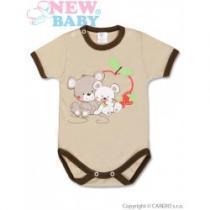 NEW BABY Dětské body s krátkým rukávem Myšky s jahůdkou
