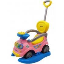 BABY MIX Dětské hrající jezdítko 3v1 pink