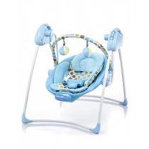 BABY MIX Dětské lehátko s houpátkem blue