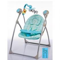 BABY MIX Dětské lehátko s houpátkem kolotočem a ovladačem blue