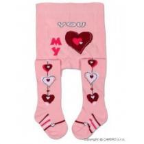 YO COMPANY Dětské punčocháčky bavlněné světle růžové různé obrázky