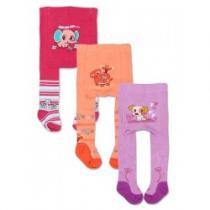 YO COMPANY Dětské punčocháčky froté ABS 3ks pro holky