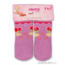 YO COMPANY Froté ponožky fialové různé obrázky