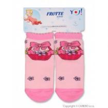 YO COMPANY Froté ponožky růžové s košíkem