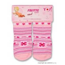 YO COMPANY Froté ponožky světle růžové různé obrázky