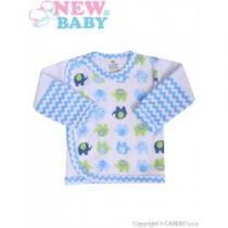 NEW BABY Kojenecká košilka Sloník bílo-modrá