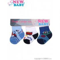 NEW BABY Kojenecké bavlněné ponožky barevné 3ks