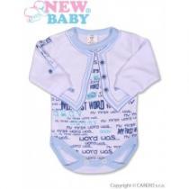 NEW BABY Kojenecké body s dlouhým rukávem Jeans modré