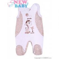NEW BABY Kojenecké dupačky Giraffe béžové