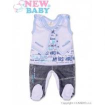 NEW BABY Kojenecké dupačky Jeans modré