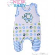 NEW BABY Kojenecké dupačky Sloník bílo-modré