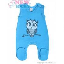 NEW BABY Kojenecké dupačky Sovička modré