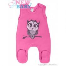 NEW BABY Kojenecké dupačky Sovička růžové