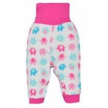 BOBAS FASHION Kojenecké tepláčky Dominik růžové se slony