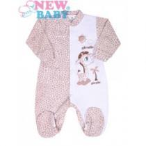 NEW BABY Kojenecký overal Giraffe béžový