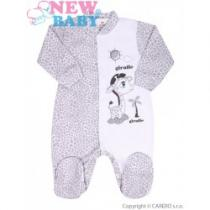 NEW BABY Kojenecký overal Giraffe šedý