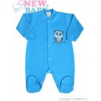 NEW BABY Kojenecký overal Sovička modrý