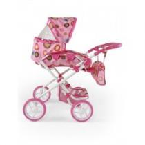 MILLY MALLY Kombinovaný kočárek pro panenky Paulína růžovo-hnědý