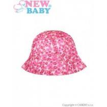 NEW BABY Letní dětský klobouček Kytička růžový
