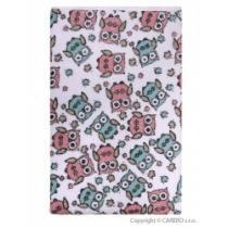 AKUKU Nepromokavá podložka froté 110x60 bílá s růžovými sovami