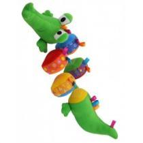 BABY MIX Plyšová edukační hračka krokodýl