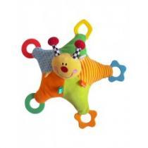 BABY MIX Plyšová hračka s chrastítkem a kousátky