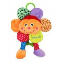 BABY MIX Plyšová hračka se zvukem Květinka