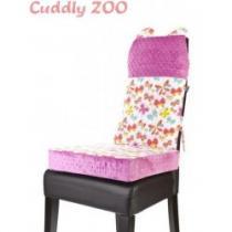 CUDDLY ZOO Set na židli opěrka a polštář Motýl světle fialový