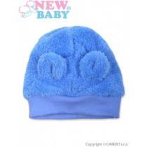 NEW BABY Zimní kojenecká čepička Mazlíček modrá