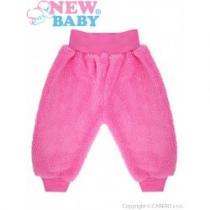 NEW BABY Zimní kojenecké tepláčky Mazlíček růžové